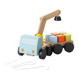 【IKEA/イケア/通販】 MULA ムーラ クレーン車 ブロック付き, マルチカラー, ビーチ(e)(80294881)[B]