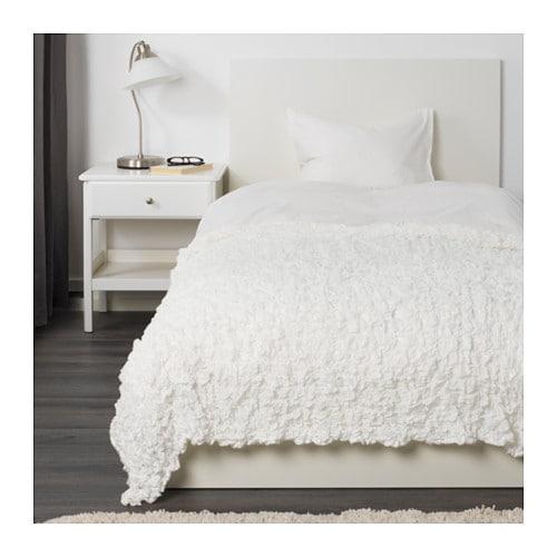 【IKEA/イケア/通販】 OFELIA オフェーリア 毛布, ホワイト(e)(60173856)