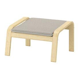 【IKEA/イケア/通販】 POÄNG ポエング フットスツール, バーチ材突き板, クニーサ ライトベージュ(d)(S49244662)