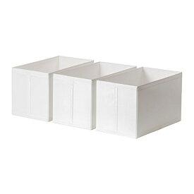 【IKEA/イケア/通販】 SKUBB スクッブ ボックス, ホワイト/3 ピース(e)(40290371)