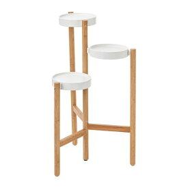 【IKEA/イケア/通販】 SATSUMAS サッツマス プラントスタンド, 竹, ホワイト(f)(60294962)