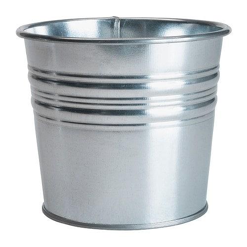 【IKEA/イケア/通販】 SOCKER ソッケル 鉢カバー, 室内/屋外用 亜鉛メッキ, 亜鉛メッキ(c)(10169442)