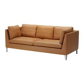 【IKEA/イケア/通販】 STOCKHOLM ストックホルム 3人掛けソファ, セグロラ ナチュラル(d)(30245044)【代引不可商品】