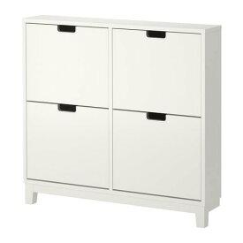【期間限定】【IKEA/イケア/通販】 STÄLL ステル 靴収納用キャビネット 4コンパートメント, ホワイト(d)(30178172)