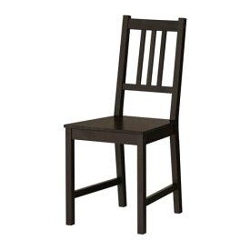 【IKEA/イケア/通販】 STEFAN ステーファン チェア, ブラウンブラック(e)(80363426)
