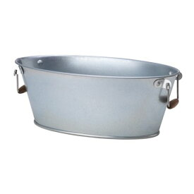 【IKEA/イケア/通販】 SVISKON スヴィスコーン 鉢カバー, 室内/屋外用, 楕円形 亜鉛メッキ(c)(50423870)