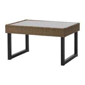 【IKEA/イケア/通販】 SOLLERÖN ソッレローン コーヒーテーブル 屋外用, チャコール, ブラウン(40373620)