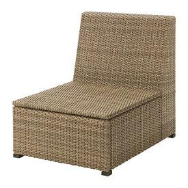 【IKEA/イケア/通販】 SOLLERÖN ソッレローン 1人掛けソファ 屋外用, ブラウン(30373625)【代引不可商品】