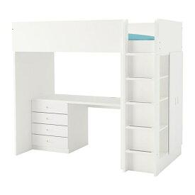 【IKEA/イケア/通販】 STUVA ストゥヴァ / FRITIDS フリーティズ ロフトベッドフレーム デスク&収納付き(引き出し×4/扉×2), ホワイト, ホワイト(a)(S09262163)【代引不可商品】