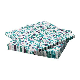 【IKEA/イケア/通販】 TACKSAMHET タックサムヘート 紙ナプキン, 模様入り, マルチカラー/30 ピース(a)(90342886)