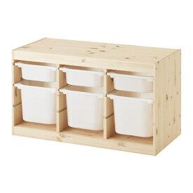 【IKEA/イケア/通販】 TROFAST トロファスト 収納コンビネーション, ライトホワイトステインパイン, ホワイト(c)(S29240877)【送料無料】
