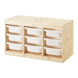 【IKEA/イケア/通販】 TROFAST トロファスト 収納コンビネーション, ライトホワイトステインパイン, ホワイト(b)(S59240871)