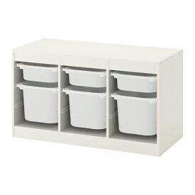 【IKEA/イケア/通販】 TROFAST トロファスト 収納コンビネーション, ホワイト, ホワイト(d)(S89222413)【送料無料】