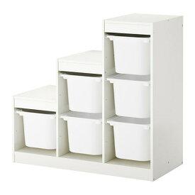 【IKEA/イケア/通販】 TROFAST トロファスト 収納コンビネーション, ホワイト(a)(S79222404)