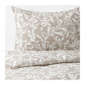 【IKEA/イケア/通販】 VÅRBRÄCKA ヴォルブレッカ 掛け布団カバー&枕カバー(e)(※本体は付属しません。カバーのみの商品です), ベージュ, ホワイト(60412611)