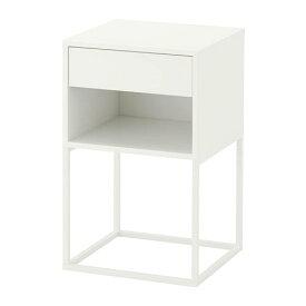 【IKEA/イケア/通販】 VIKHAMMER ヴィークハムメル ベッドサイドテーブル, ホワイト(d)(80388974)