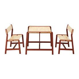 【IKEA/イケア/通販】 YPPERLIG イッペルリグ 子ども用テーブル ベンチ2台付き(a)(S49260082)【代引不可商品】