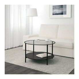 【期間限定】【IKEA/イケア/通販】 VITTSJÖ ヴィットショー コーヒーテーブル, ブラックブラウン, ガラス(a)(00213313)