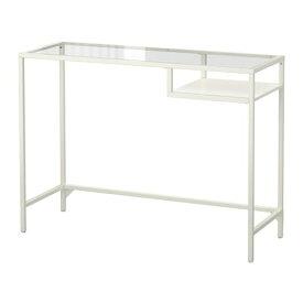 【期間限定】【IKEA/イケア/通販】 VITTSJÖ ヴィットショー ラップトップテーブル, ホワイト, ガラス(d)(10303445)