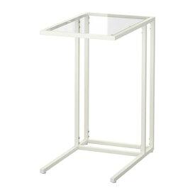 【期間限定】【IKEA/イケア/通販】 VITTSJÖ ヴィットショー ラップトップスタンド, ホワイト, ガラス(c)(70303447)