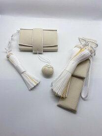 【受注生産】花嫁和装 はこせこ かいけん 新品 婚礼用 筥迫 懐剣2点セット ベージュ系