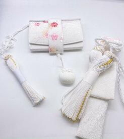 花嫁和装 はこせこ かいけん 新品 婚礼用 筥迫 懐剣2点セット 花柄刺繍 ホワイト系