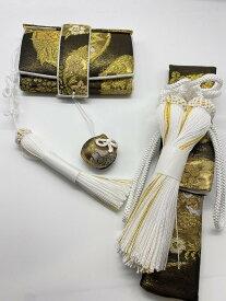 花嫁和装 はこせこ かいけん 新品 婚礼用 筥迫 懐剣2点セット 帯地ブラックゴールド系