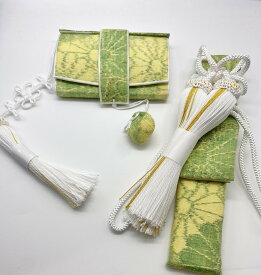 花嫁和装 はこせこ かいけん 新品 婚礼用 筥迫 懐剣2点セット グリーン系