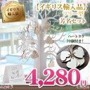 【イギリス輸入品】結婚式 芳名帳 ツリー型 木製タグ70個付き