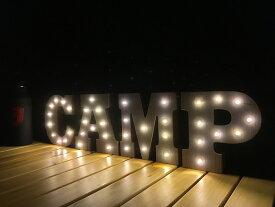 【送料無料!!】ウッド製 おしゃれ マーキーライト インテリア WOODEN MARQUEE LIGHT SET (CAMP) ディスプレイ