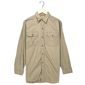 RICO ワークシャツ サイズ表記 16 ベージュ 50's 50年代 VINTAGE ヴィンテージ ビンテージ ボタンダウン BD  古着 【中古】 wv1912-1417