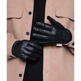 【50%OFF】Thinsulate フェイクレザーグローブ グローブ メンズ 手袋 シンサレート 冬 冬小物 防寒 WEGO ウィゴー