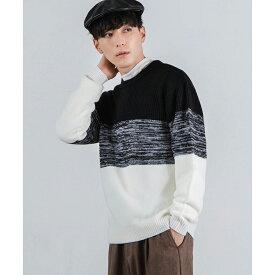 【50%OFF】グラデーションニット ニット レディース メンズ ユニセックス セーター トップス 冬 長袖 WEGO ウィゴー