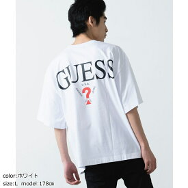 GUESS 別注カラーロゴBIG Tシャツ GUESS ゲス tシャツ 半袖 トップス メンズ レディース ユニセックス 男女兼用 デニム WEGO ウィゴー