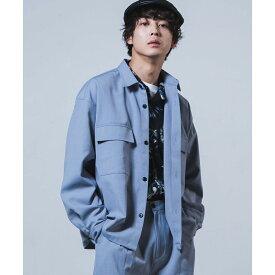 SALE40%OFF アーバンカラーCPOシャツ シャツ メンズ レディース ユニセックス アウター トップス 長袖 シャツアウター ジャケット CPO CPOジャケット セットアップ 春 WEGO ウィゴー