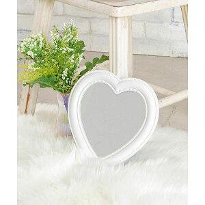SALE10%OFF ハートミラー 鏡 ミラー 折り畳み式 ハート かわいい 雑貨 スタンドミラー 小さめ シルバー ゴールド ギフト プレゼント WEGO ウィゴー