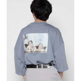 SALE30%OFF ART COLLECTIONバルーン7分袖Tシャツ tシャツ レディース メンズ ユニセックス 男女兼用 カットソー トップス 7分袖 半端袖 ビッグ ビッグシルエット バックプリント バックロゴ WEGO ウィゴー