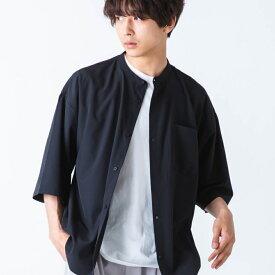 SALE50%OFF バンドカラービッグ半袖シャツ 半袖シャツ メンズ トップス シャツ ビッグ オーバーサイズ WEGO ウィゴー