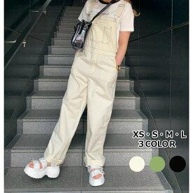 【送料無料】チノオーバーオール オーバーオール レディース 白 パンツ ボトムス ボトム サロペット ワイドパンツ ワイドボトム レディース大きいサイズ オールインワン WEGO ウィゴー