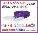 スリングベルト ベルト幅25mm 全長2m/耐久性に優れているポリエステル強力原糸100% ナイロンスリング ベルトスリング…