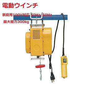 新型 吊下げ式電動ホイスト300kg ワイヤー12M 小型電動ウインチ 吊り下げタイプ 送料無料 三方良し 電動ウインチ ホイスト レバーブロック レバーホイスト 家庭用 100V対応 50Hz/60Hz