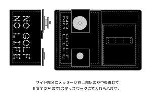 【本革製ゴルフボールポーチ・プレーンタイプM/メッセージ】