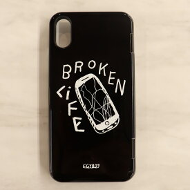 iPhone X用 スマホケース EGYBOY / BROKEN LIFE IPHONE CASE イージーボーイ