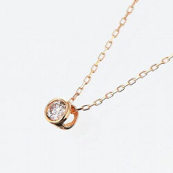 【18金】【一粒石】【ダイヤ】K18ゴールド×ダイヤモンド0.08ctペンダント【あす楽対応】【ゴールド】【ホワイトゴールド】【イエローゴールド】【ピンクゴールド】