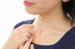【送料無料】デコルテが美しく感じるデザイン♪プラチナ☆1.0カラットの高級ネックレス♪