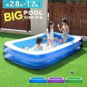 【送料無料】プール ビニールプール 大型 家庭用プール ファミリープール 大型プール ジャンボプール 2.8m ガーデンプ…