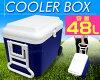 쿨러 박스 대형 48 L캐스터 쿨러 가방 쿨러 바스켓 대용량 쿨러 BOX 48리터 냉장 박스 아웃도어 용품 캠프 용품 낚시 바비큐 BBQ