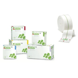 Green [fs04gm], tubular bandages tubifirst (2) 5.0 cm x 10 m.