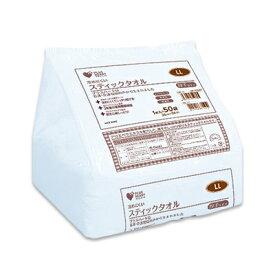 オオサキメディカル プラスハート スティックタオル LL 28×56cm 1ケース(1枚/袋×50袋×8個) 74992