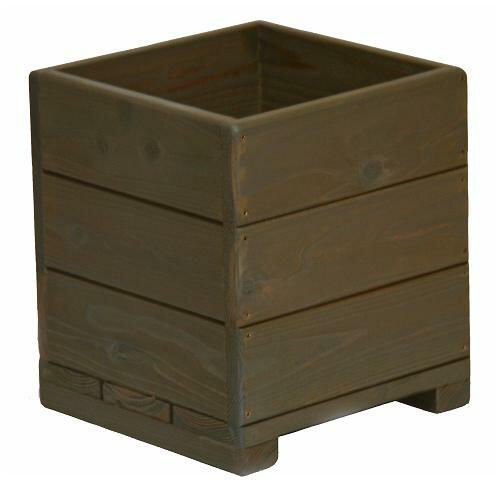 Welcome wood 9号ウッドプランター H9D-UB 鉢カバーとしても使用できます    容量・約16リットル (植木鉢  木製プランター 鉢カバー)
